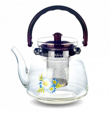 Чайник стеклянный Kelli KL 3001 1.2л