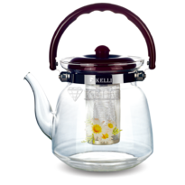 Чайник стеклянный Kelli KL 3006 0.8л