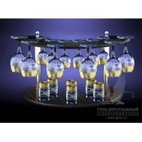 Набор бокалов на барной стойке Версаче GE-411/134/837 19пр.