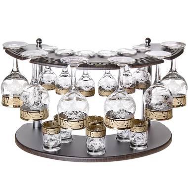Набор бокалов на барной стойке GE-163/164/837 19пр.