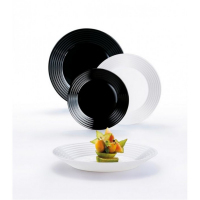 Столовый сервиз Luminarc Harena Black&White N1518 18пр.