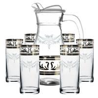 Набор кувшин + стаканы Гусь-Хрустальный GE-3944/402