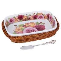 """Масленка с ножом для масла Lefard """"Розы"""" 792-024"""