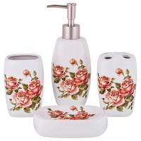 "Набор для ванной комнаты ""Корейская роза"" 4 пр. Lefard 755-200"