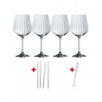 Набор бокалов для джина с трубочками Nachtmann Gin&Tonic 103143 4 шт