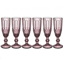 Набор бокалов для шампанского Lefard Muza Color Серпантина 781-102 6 шт
