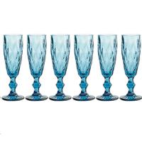 Набор бокалов для шампанского Lefard Muza Color Ромбо 781-112 6 шт