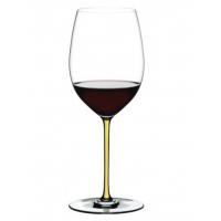 Бокал для вина Riedel Cabernet/Merlot Fatto a Mano желтый
