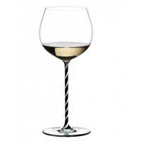 Бокал для вина Riedel Oaked Chardonnay Fatto a Mano черно-белый
