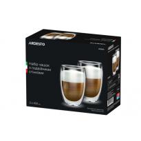 Набор чашек с двойными стенками Ardesto AR2645G 450 мл
