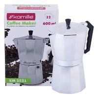 Гейзерная кофеварка Kamille KM-2521 0,6 л
