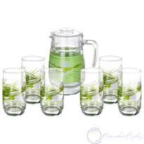Набор кувшин + стаканы Luminarc Sofiane Green Vigne L2348